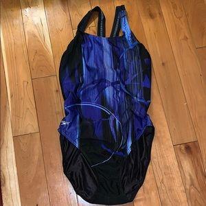 EUC Speedo Blue and Black Swimsuit